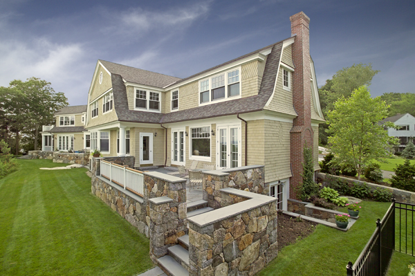 Gambrel shingle style house